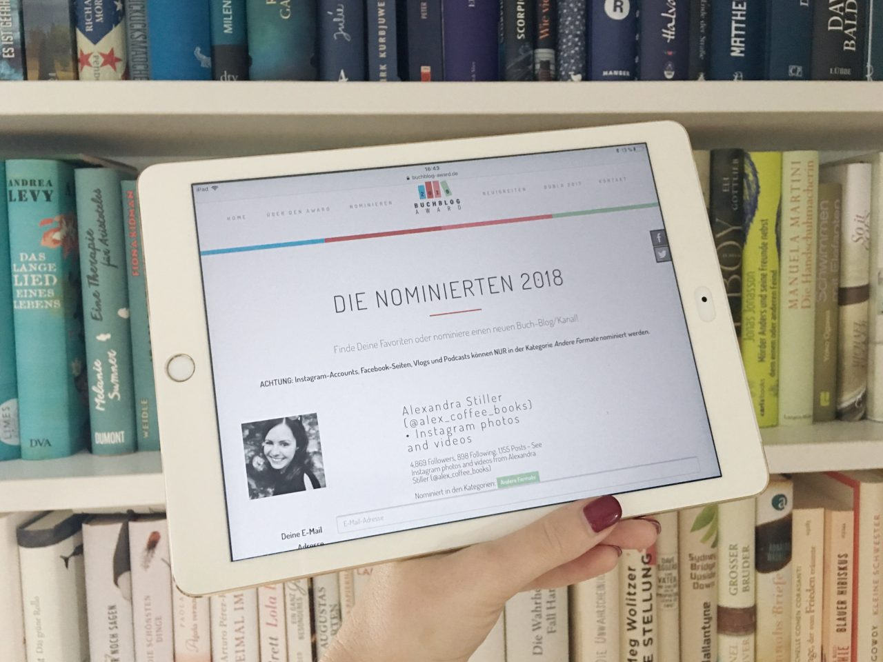Buchblog-Award Nominierung alex_coffee_books