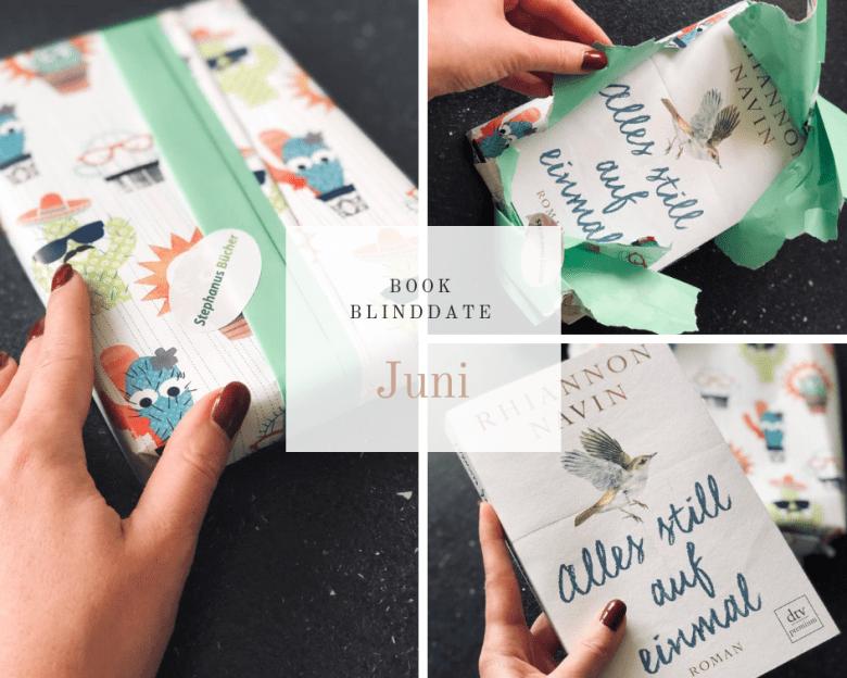Book Blind Date für Juni - Alles still auf einmal - Rhiannon Navin